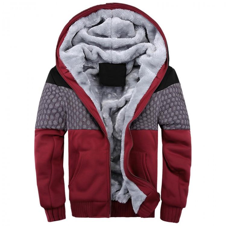 Wool-blend velvet hoodie
