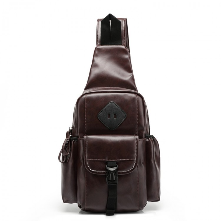 Faux leather chest pack