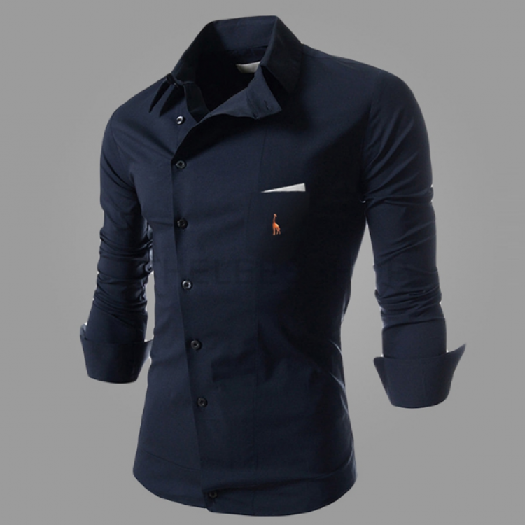 Fitted solid shirt