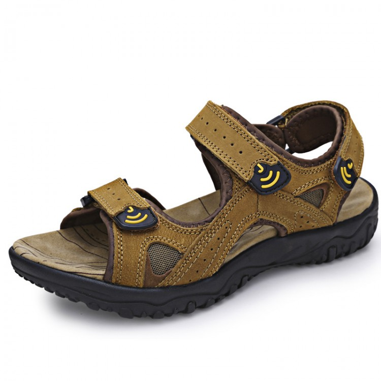 Men's Double-Strap Leather Sandal