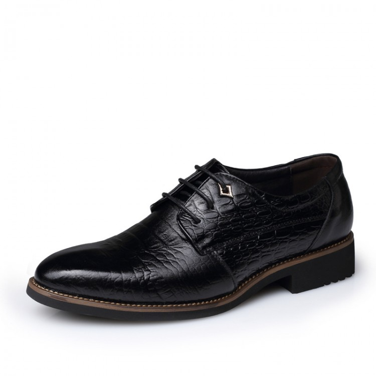 Men's Leather Shoes Serpentine Pattern