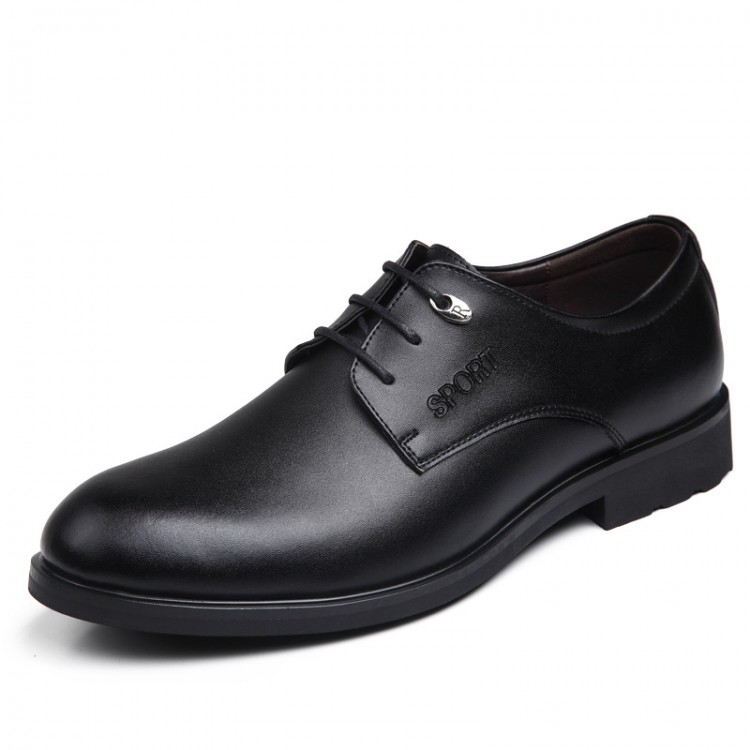 Men's Leather Shoes Round Toe Lace Up
