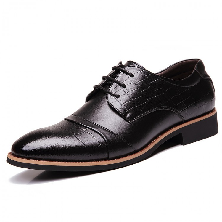 Men's Dress Shoes Leather Shoes Low-help