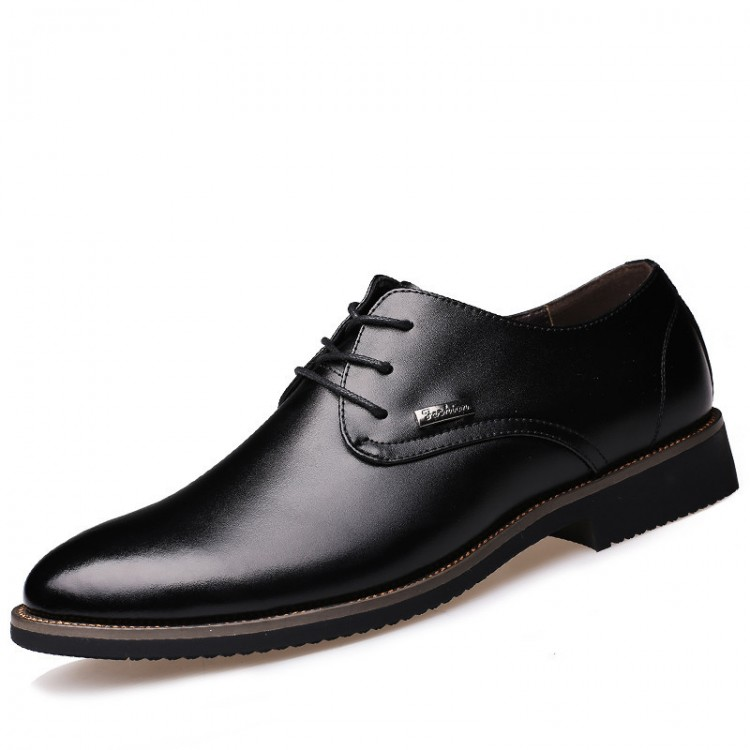 Men's Leather Shoes Lace Up