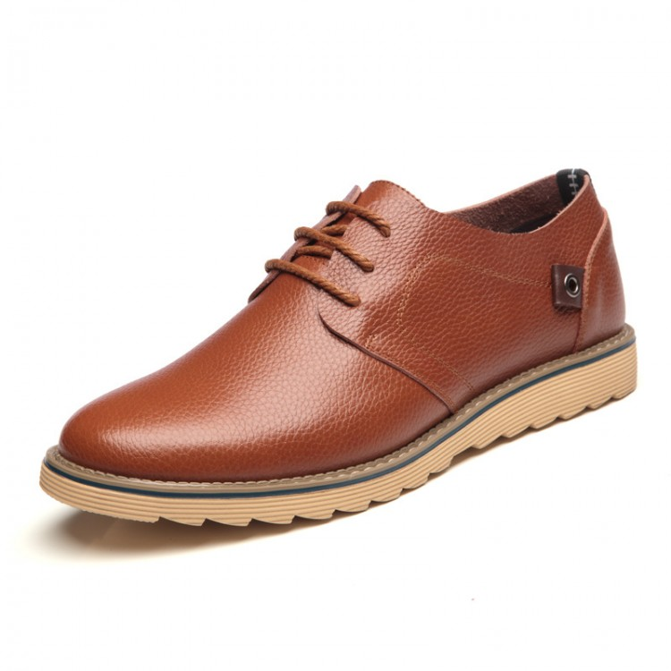 Men's Leather Shoes Low-help Lace up