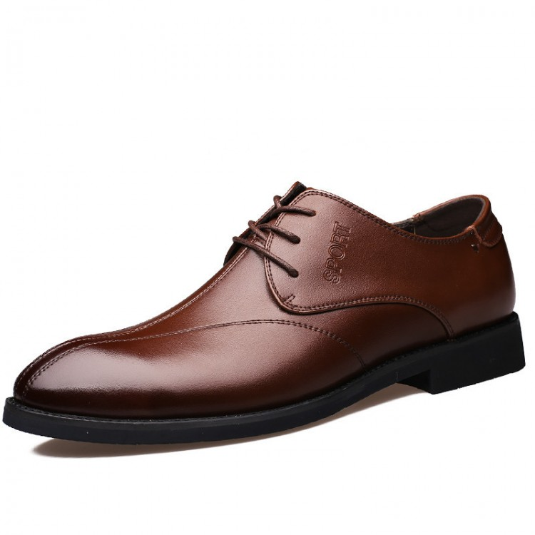 Men's Leather Shoes Lace Up Solid