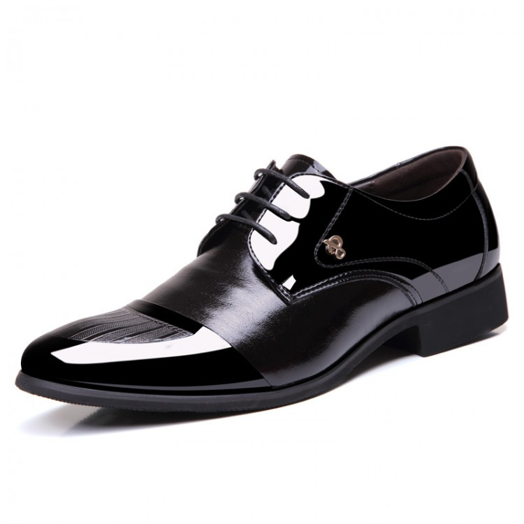 Men's Leather Shoes Pointed Toe