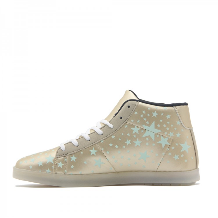 Women Men High Top Shoes Flashing Star Sneakers