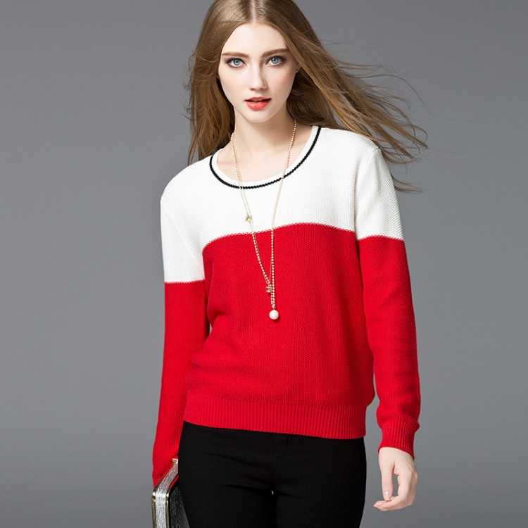 Women's Colorblock Pullover Sweater