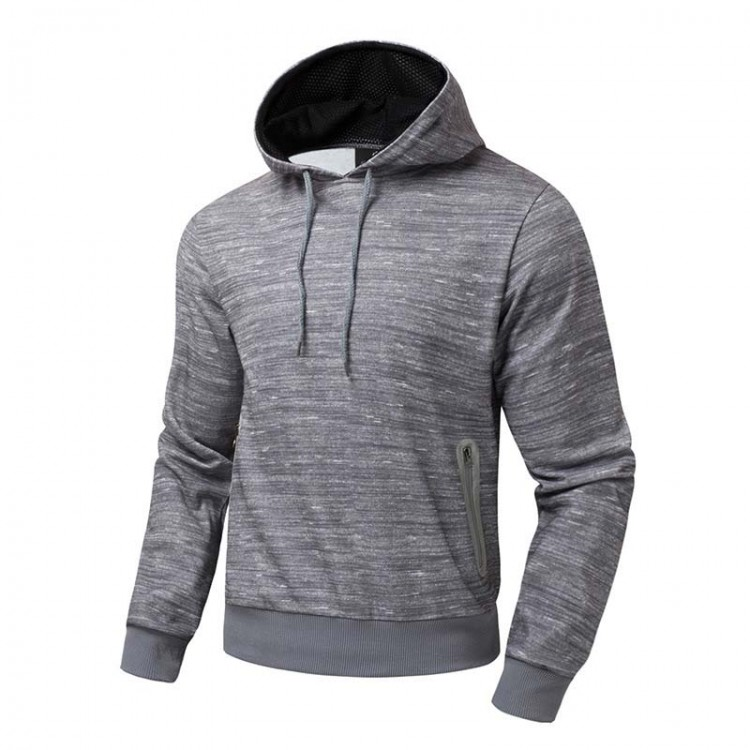 men's flocking hoodie
