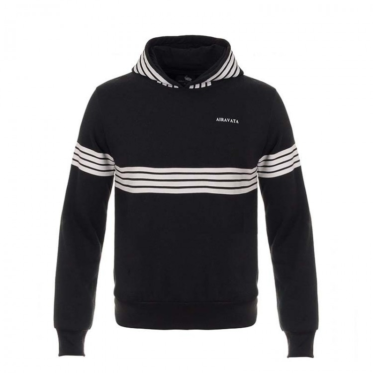 men's striped flocking hoodie sportswear