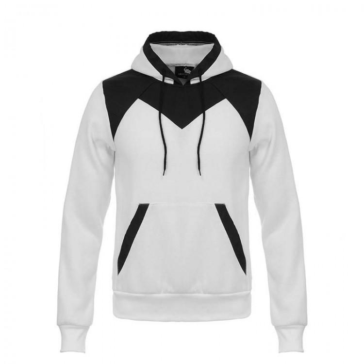 men's color-blocked flocking hoodie