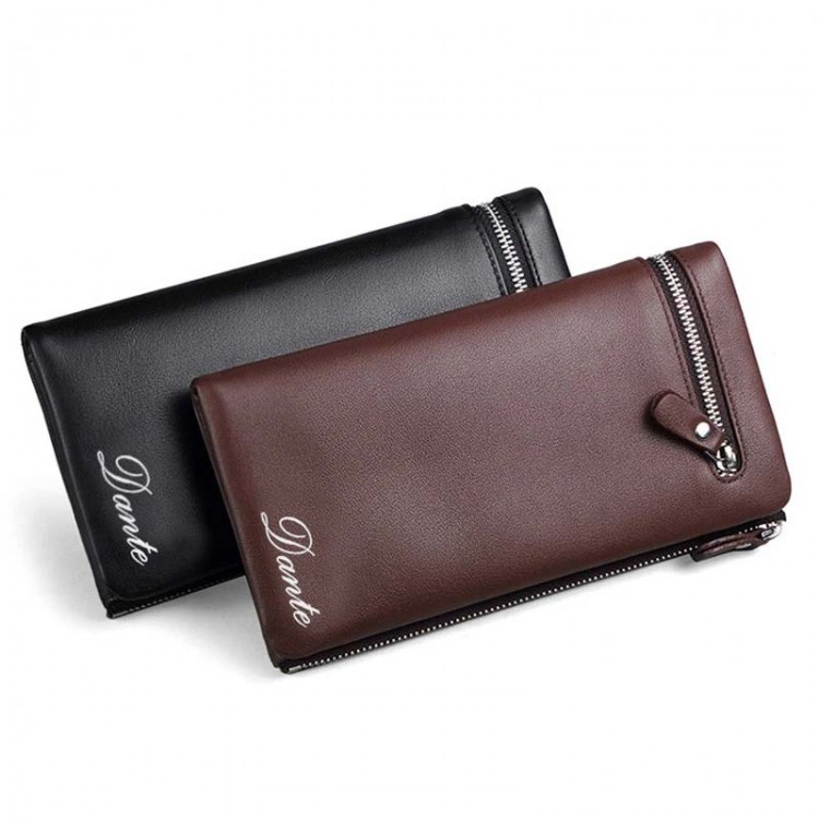 Grainy Leather Zip-around Wallet