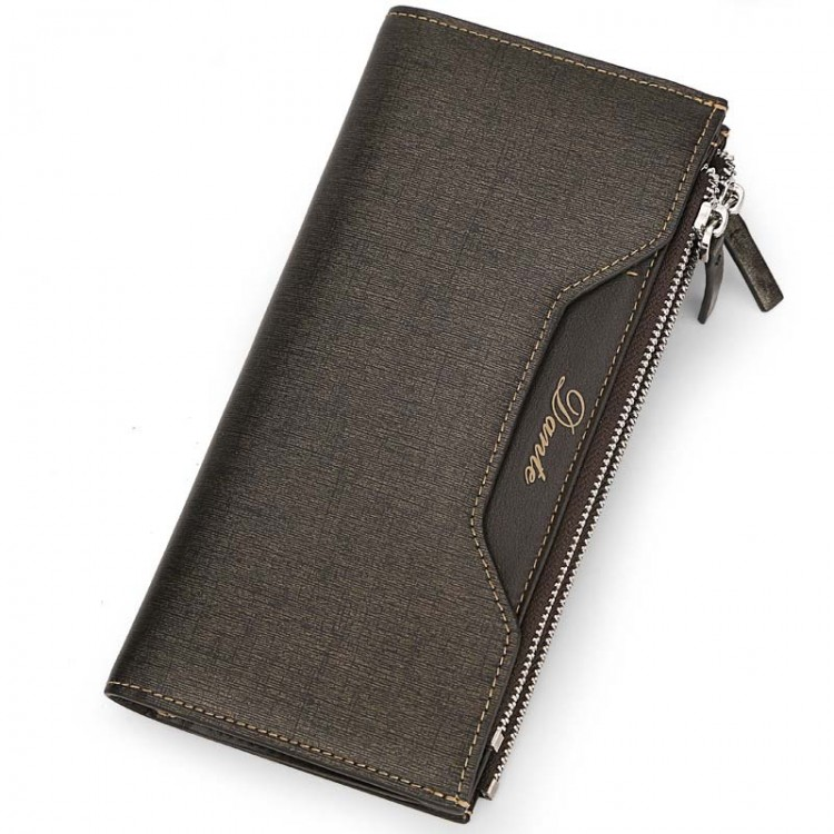 Grainy Leather Zip-around Wallet Bifold